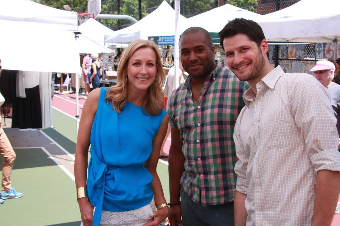 (v.l.n.r.) Lara Spencer; Eddie; Scotty - Bildquelle: 2014, HGTV/ Scripps Networks, LLC. All Rights Reserved.