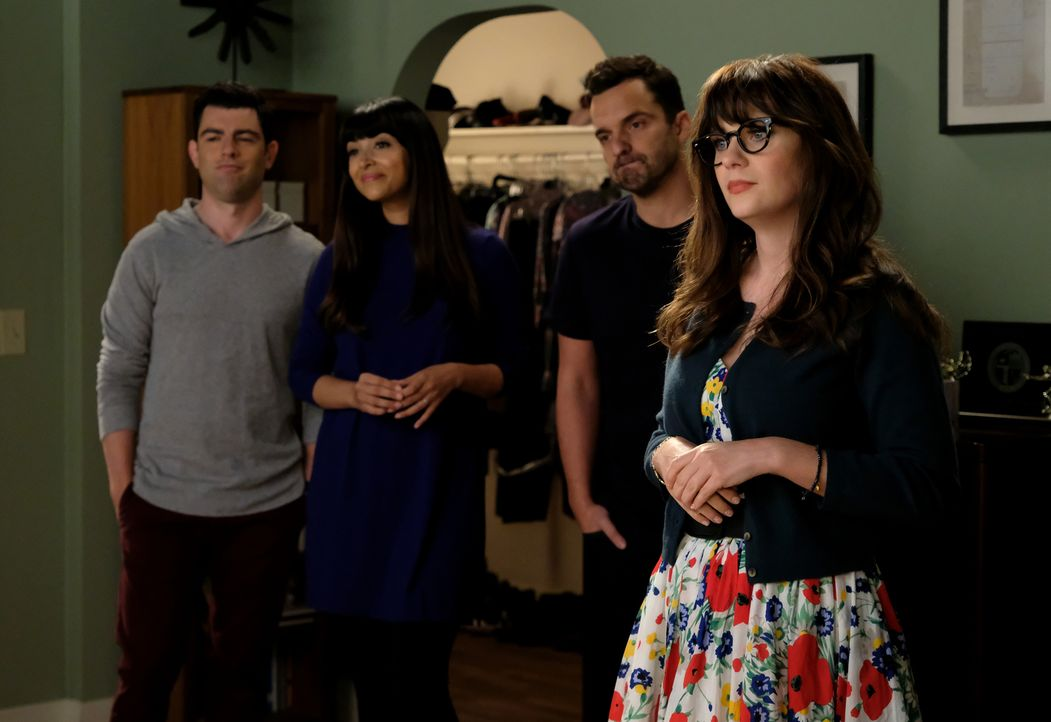 Auf (v.l.n.r.) Schmidt (Max Greenfield), Cece (Hannah Simone), Nick (Jake Johnson) und Jess (Zooey Deschanel) warten einige Herausforderungen ... - Bildquelle: 2018 Fox and its related entities.  All rights reserved.