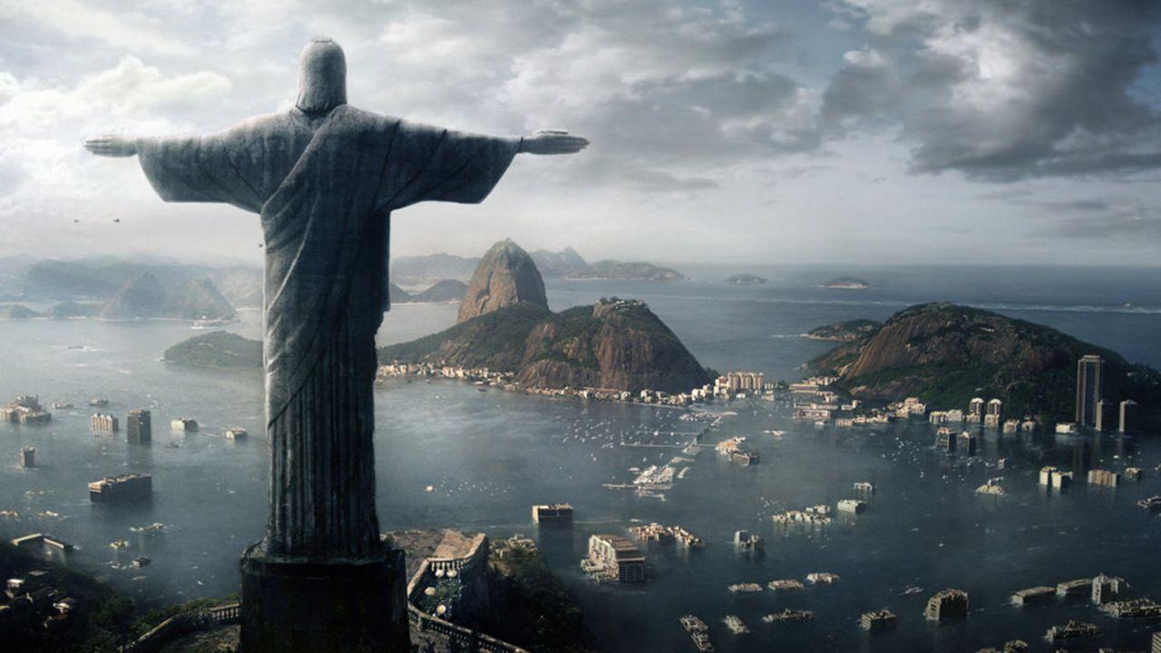 """Die folgenschweren Auswirkungen der globalen Erwärmung: Siebzig Prozent der weltweiten Landmasse ist durch """"Die Flut? überschwemmt. Rios Zuckerhut i... - Bildquelle: TANDEM COMMUNICATIONS - All Rights Reserved"""