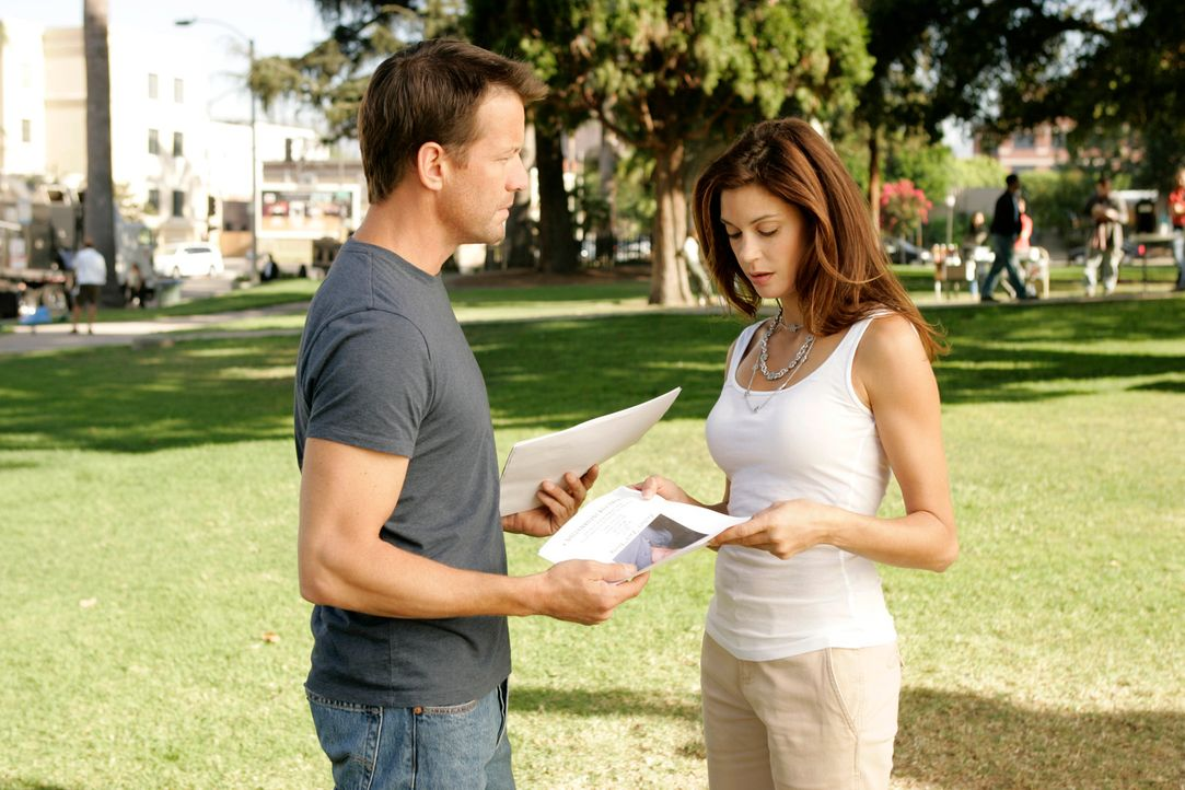 Mike (James Denton, l.) findet es komisch, dass er und Susan (Teri Hatcher, r.) so tun, als wären sie ganz normal und ohne Verpflichtungen miteinand... - Bildquelle: 2005 Touchstone Television  All Rights Reserved