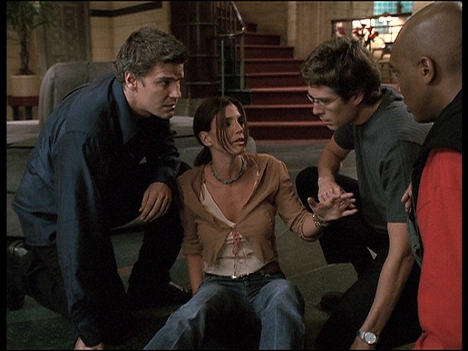 Die Visionen von Cordelia (Charisma Carpenter, 2.v.l.) werden immer intensiver. Angel (David Boreanaz, l.), Wesley (Alexis Denisof, 2.v.r.) und Gunn... - Bildquelle: 20th Century Fox. All Rights Reserved.