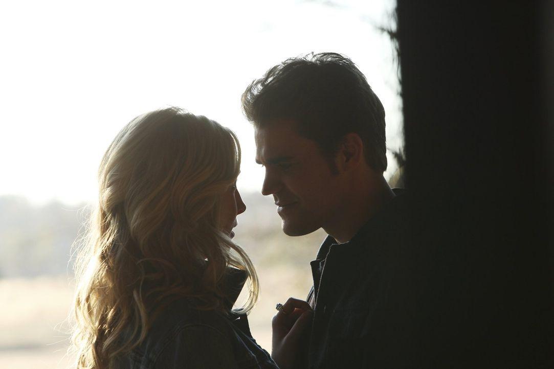 Caroline (Candice Accola, l.) möchte für ihre Mutter alles perfekt machen, aber Stefan (Paul Wesley, r.) macht ihr klar, dass es nicht nur um die le... - Bildquelle: Warner Bros. Entertainment, Inc