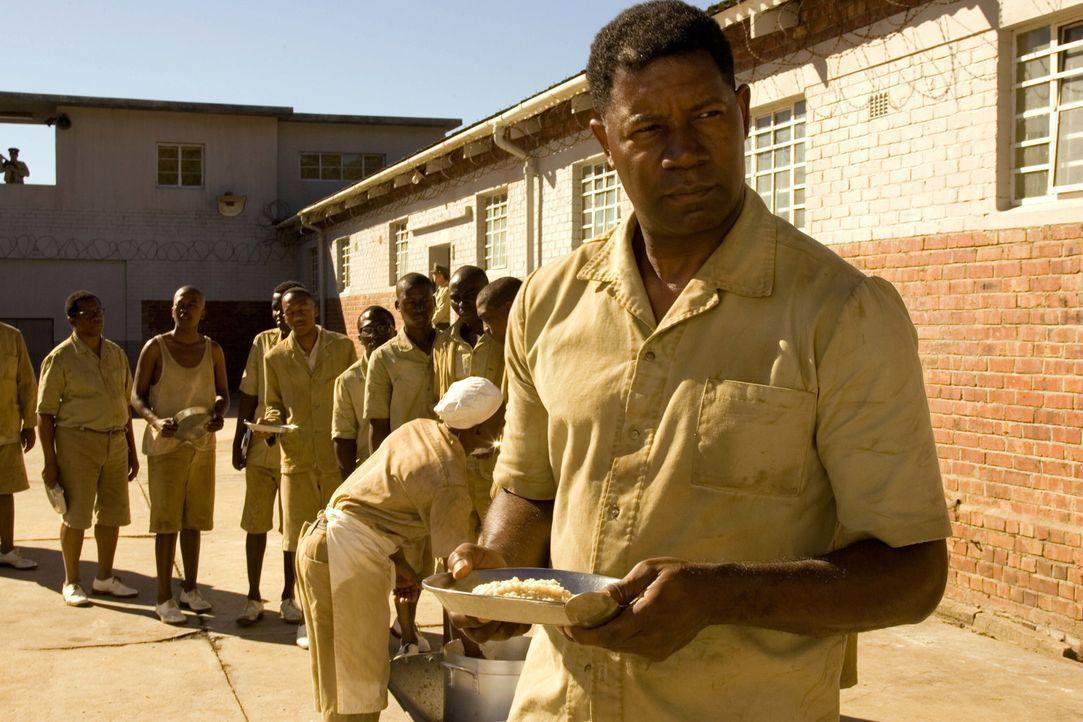 Südafrika 1968. Nelson Mandela (Dennis Haysbert, vorne), ein Königssohn aus dem Volk der Xhosa mit abgeschlossenem Jurastudium, gründet aufgrund... - Bildquelle: Warner Brothers International Television Distribution Inc.