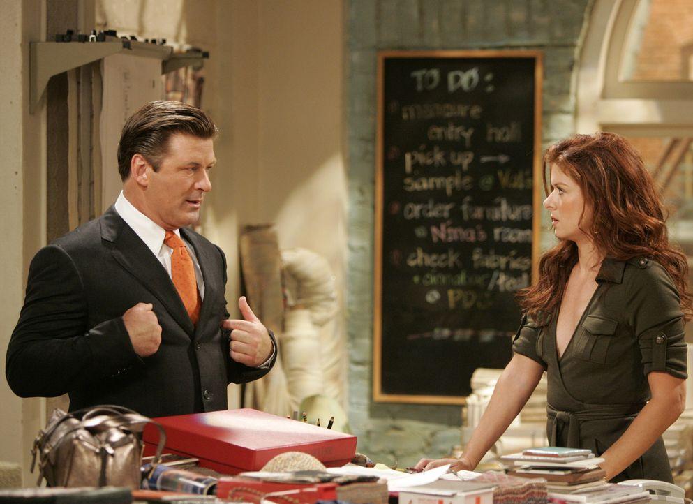 Kurz vor dem Herbstfest macht Karen endlich Schluss mit Malcolm (Alec Baldwin, l.), was dieser nicht zulassen will. In seiner Verzweiflung nimmt er... - Bildquelle: NBC Productions