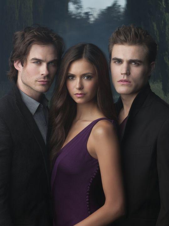 Nina mit Stephen und Damon