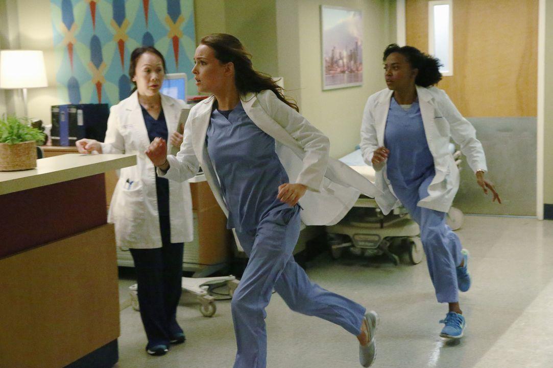Als Meredith erfährt, dass Owen und Amelia ohne ihr Wissen miteinander ausgehen, reagiert sie Amelia gegenüber sehr hart, währenddessen geht es in d... - Bildquelle: ABC Studios