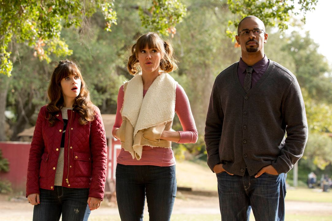 Ein Schulausflug stellt Jess (Zooey Deschanel, l.), Ruth (Erinn Hayes, M.) und Coach (Damon Wayans Jr., r.) vor einige Herausforderungen ... - Bildquelle: 2015 Twentieth Century Fox Film Corporation. All rights reserved.