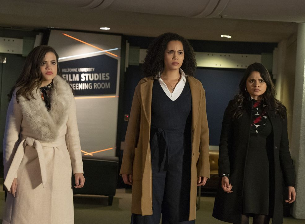 (v.l.n.r.) Maggie Vera (Sarah Jeffery); Macy Vaughn (Madeleine Mantock); Mel Vera (Melonie Diaz) - Bildquelle: Katie Yu 2019 The CW Network, LLC. All Rights reserved.