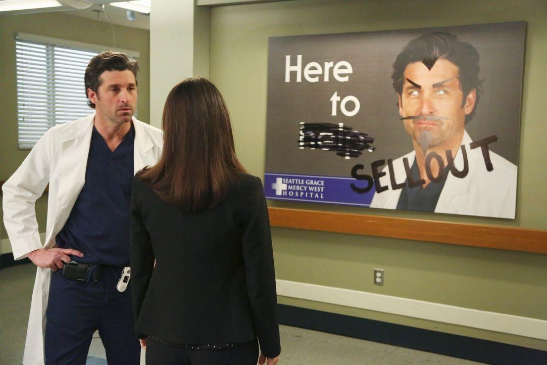 Dr. Derek Shepherd (Patrick Dempsey, l.) ist momentan in einer schwierigen Situation. Das Krankenhaus ist dabei sich völlig zu verändern. Nun überle... - Bildquelle: ABC Studios