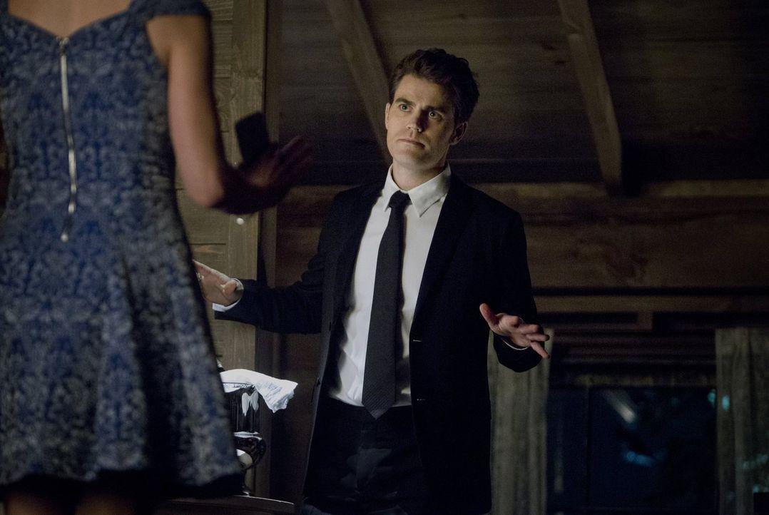 Caroline kehrt zurück nach Mystic Falls und trifft eine Entscheidung ihre Beziehung zu Stefan (Paul Wesley) betreffend ... - Bildquelle: Warner Bros. Entertainment, Inc
