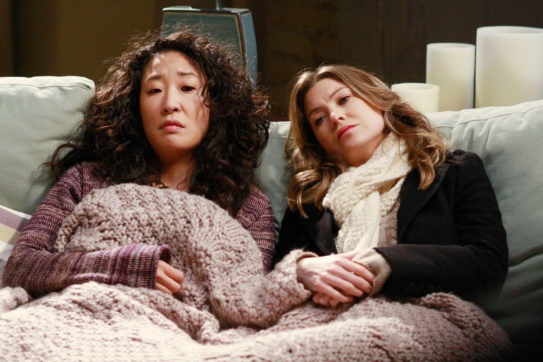 Probleme wälzen: Meredith (Ellen Pompeo, r.) und Cristina (Sandra Oh, l.) ... - Bildquelle: Touchstone Television