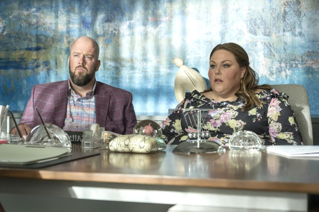 Toby Damon (Chris Sullivan, l.); Kate Pearson (Chrissy Metz, r.) - Bildquelle: Ron Batzdorff 2018-2019 NBCUniversal Media, LLC.  All rights reserved./Ron Batzdorff