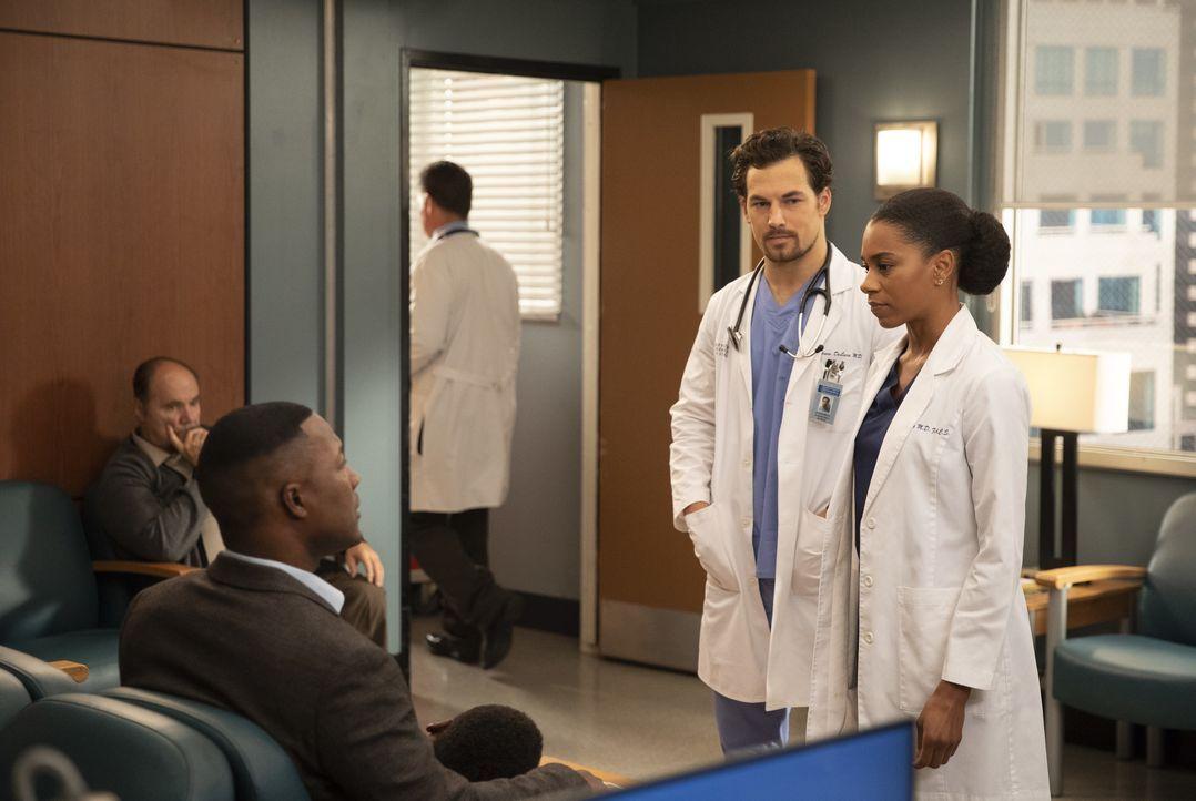 Dr. Andrew DeLuca (Giacomo Gianniotti, l.); Dr. Maggie Pierce (Kelly McCreary, r.) - Bildquelle: Rick Rowell ABC Studios / Rick Rowell