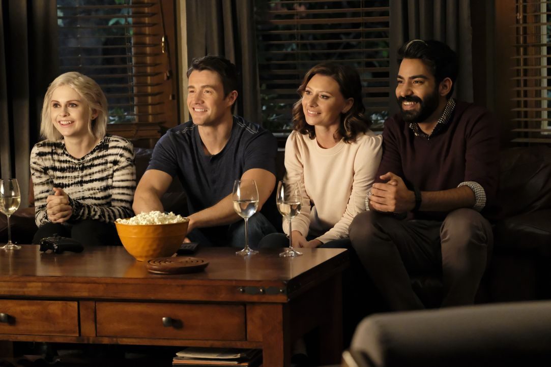 (v.l.n.r.) Liv Moore (Rose McIver); Major Lilywhite (Robert Buckley); Peyton Charles (Aly Michalka); Ravi Chakrabarti (Rahul Kohli) - Bildquelle: Bettina Strauss 2019 The CW Network, LLC. All Rights Reserved. / Bettina Strauss