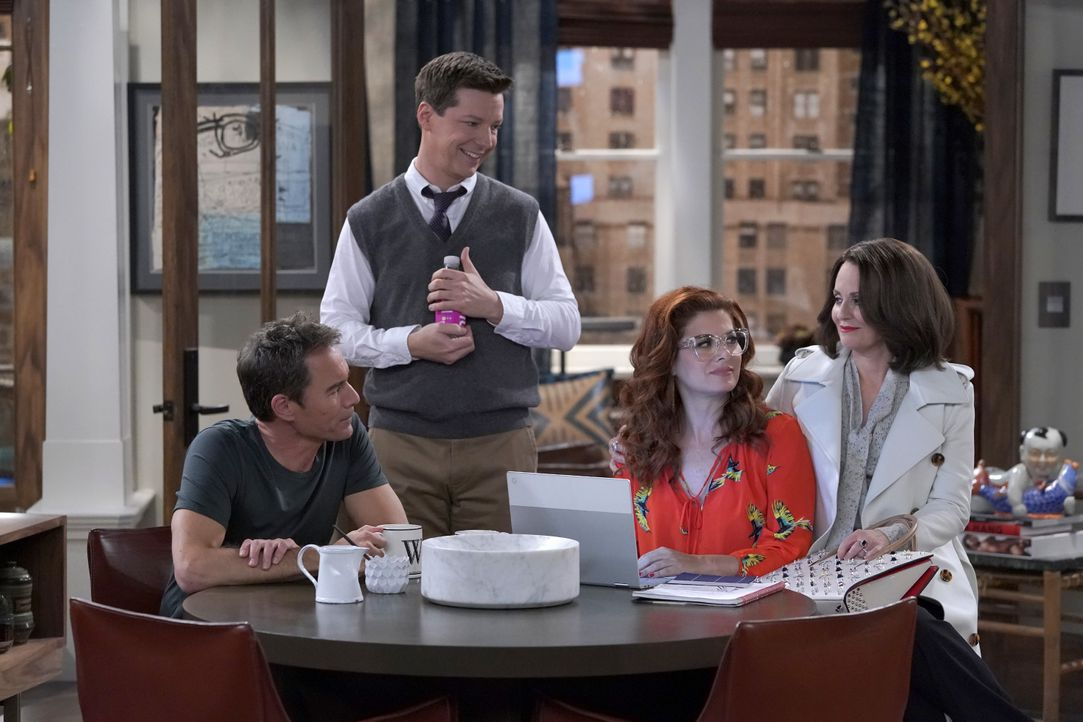 (v.l.n.r.) Will (Eric McCormack); Jack (Sean Hayes); Grace (Debra Messing); Karen (Megan Mullally) - Bildquelle: Chris Haston 2018 Universal Television LLC. ALL RIGHTS RESERVED./Chris Haston / Chris Haston
