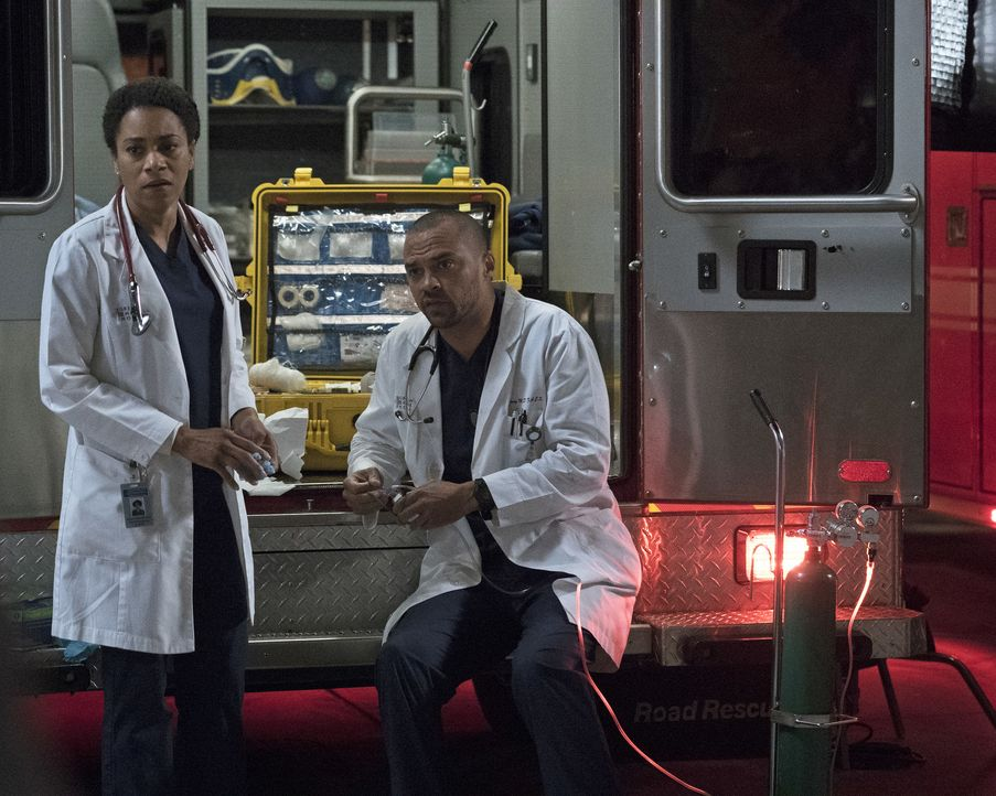 Dr. Maggie Pierce (Kelly McCreary, l.); Dr. Jackson Avery (Jesse Williams, r.) - Bildquelle: Richard Cartwright 2017 American Broadcasting Companies, Inc. All rights reserved.