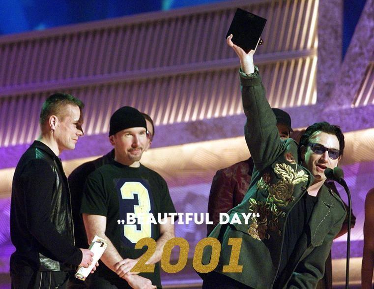 Grammy 2001: Beautiful Day - Bildquelle: Wenn