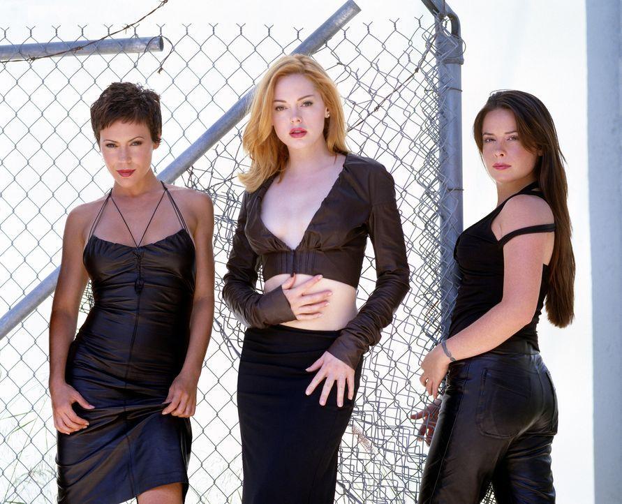 (6. Staffel) - Ein zauberhaftes Team: Phoebe (Alyssa Milano, l.), Piper (Holly Marie Combs, r.) und Paige (Rose McGowan, M.) ... - Bildquelle: Paramount Pictures