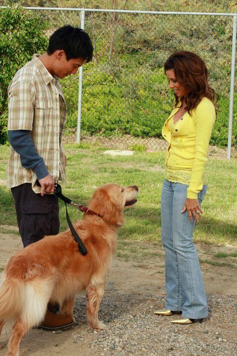 Da Gabrielle (Eva Longoria, r.) keine Konkurrenz dulden kann, versucht sie alles, um Roxy, den Blindenhund von Carlos, wieder loszuwerden. Kann Stev... - Bildquelle: ABC Studios
