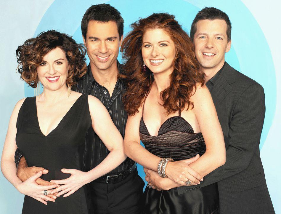 (7. Staffel) - Verbringen gemeinsam ihre chaotischen Tage in New York: Karen (Megan Mullally, l.), Will (Eric McCormack, 2.v.l.), Grace (Debra Messi... - Bildquelle: NBC Productions