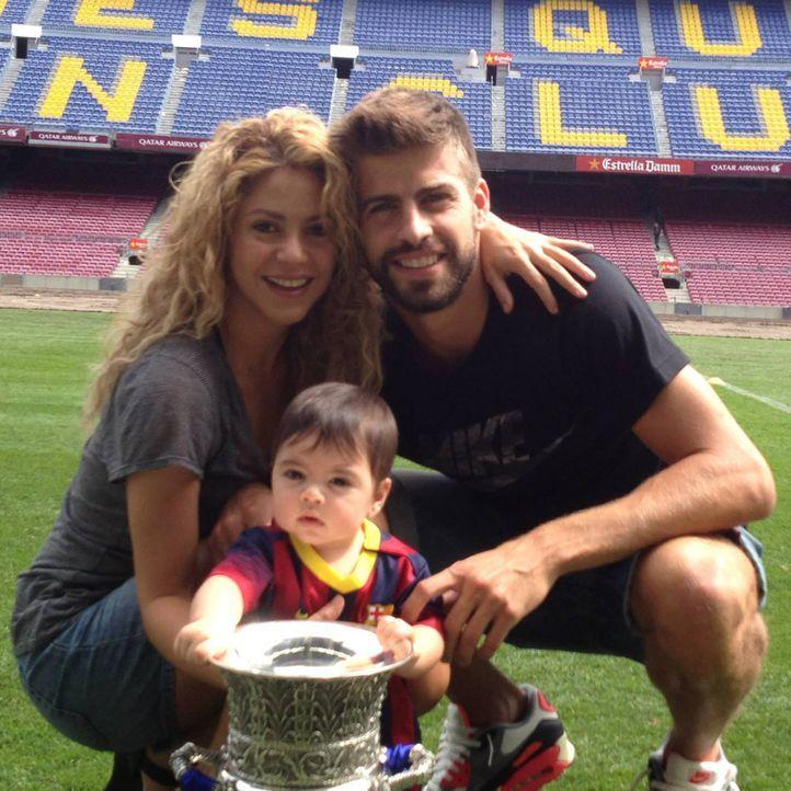 Spielerfrauen WM 2014: Shakira Isabel Mebarak Ripoll - Bildquelle: Facebook/ Gerard Piqué