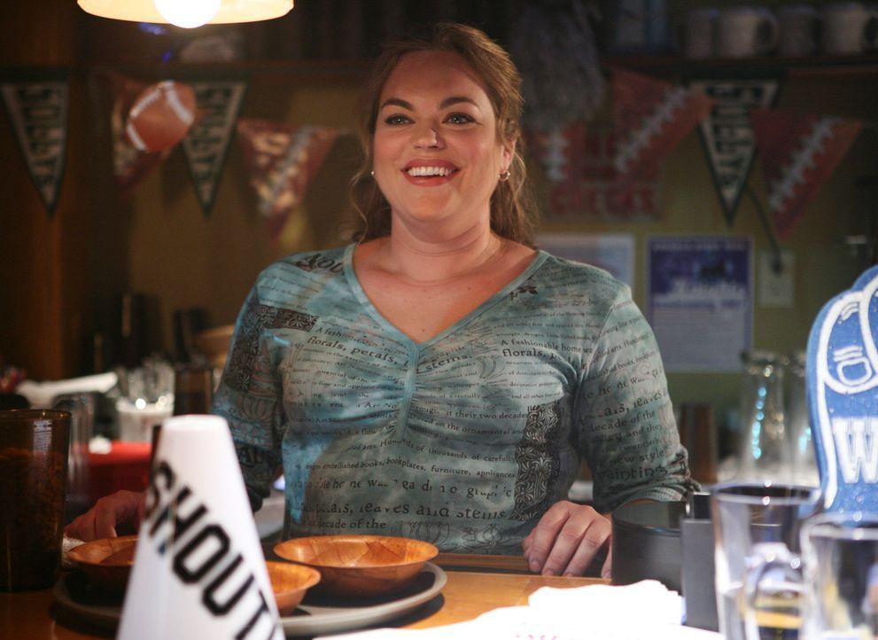 Freut sich über ihr Date mit Frauenschwarm Eddie: Janet (Rebecca Field) ... - Bildquelle: ABC Studios