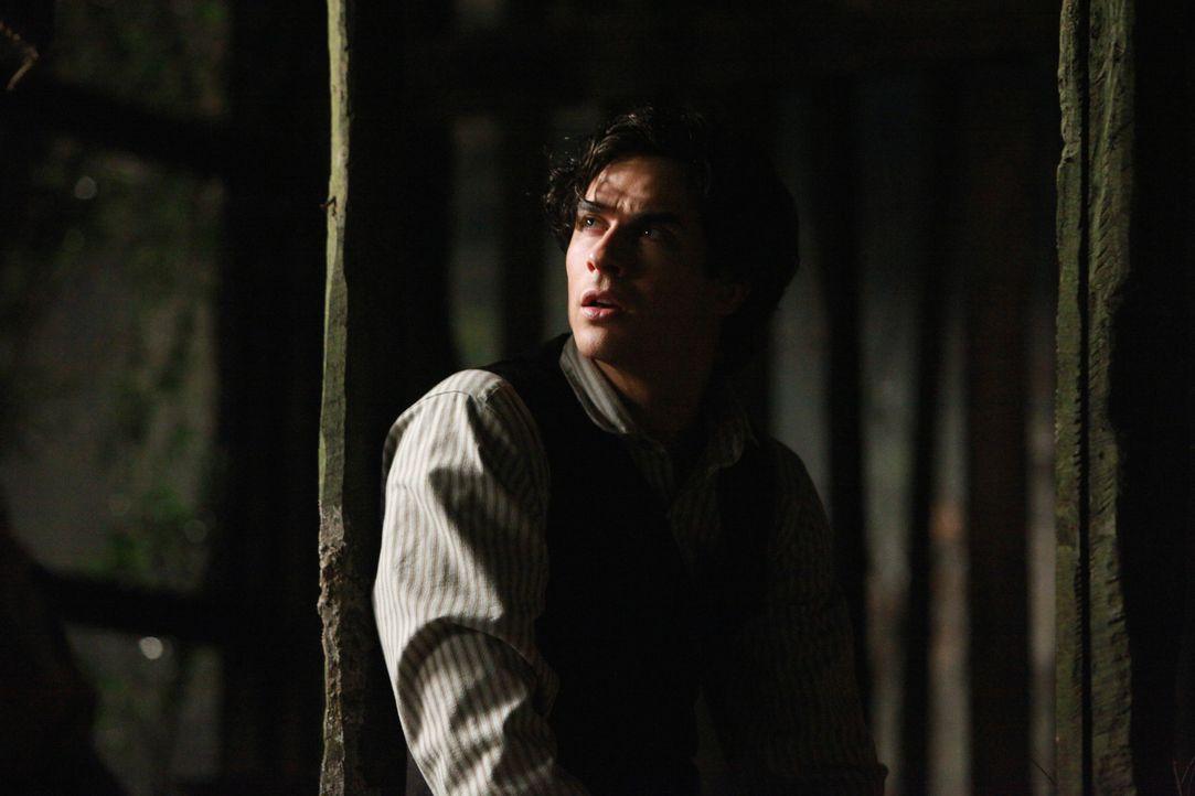 Jetzt, wo Catherine tot ist, sieht Damon (Ian Somerhalder) keinen Grund mehr, weiterzuleben. Er tritt in den Hungerstreik ... - Bildquelle: Warner Bros. Television