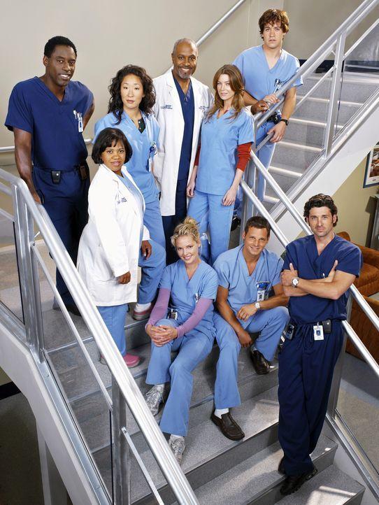 (2. Staffel) - Gemeinsam machen sie sich daran, den unberechenbaren Krankenhausalltag zu meistern: (v.l.n.r.) Dr. Preston Burke (Isaiah Washington),... - Bildquelle: Touchstone Television