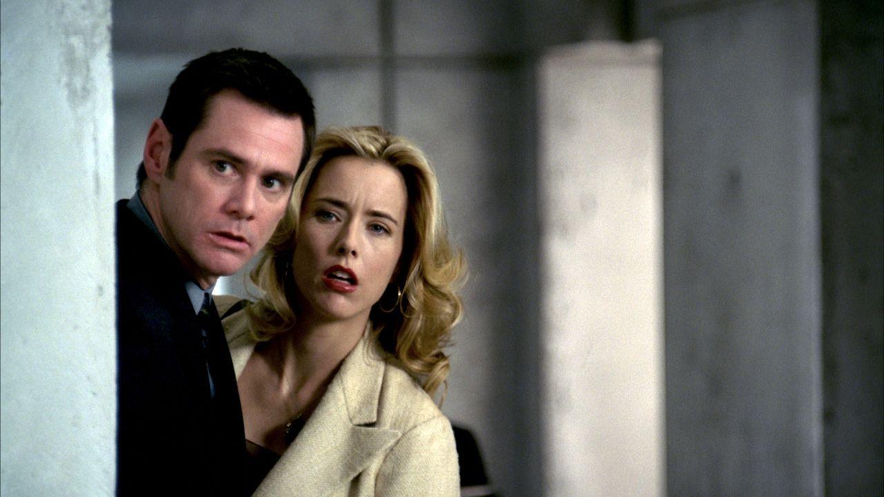 Nachdem Dick (Jim Carrey, l.) seinen Job verloren hat, will er sich als Dieb versuchen. Leichter gesagt als getan, denn Dick gibt als Gauner keine w... - Bildquelle: Sony Pictures Television International. All Rights Reserved.