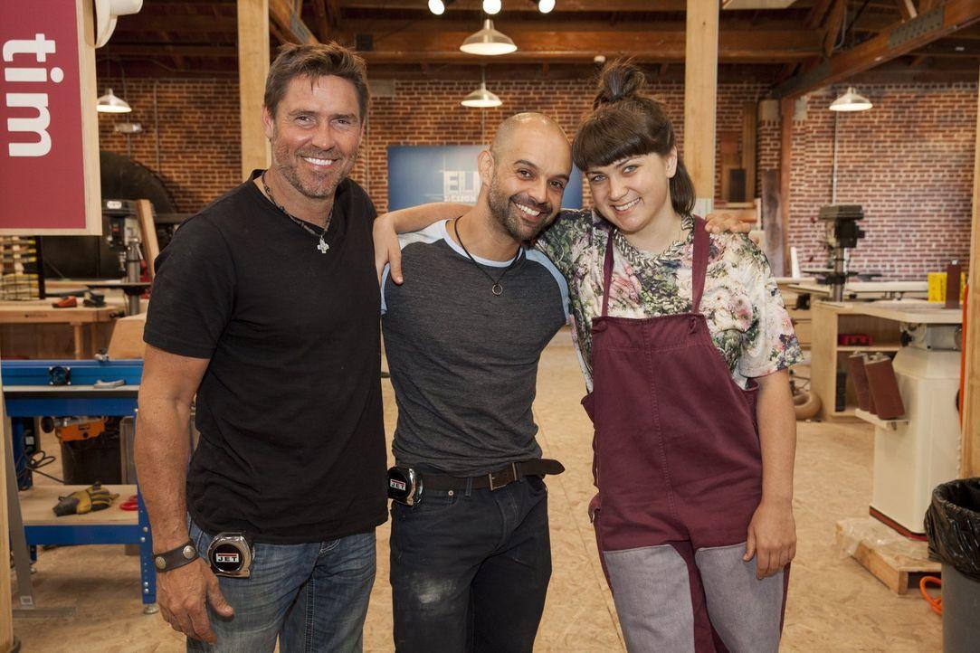 Wer von ihnen wird ins Finale einziehen: (v.l.n.r.) Tim, Gaspar oder Katie? - Bildquelle: 2015 Warner Bros.