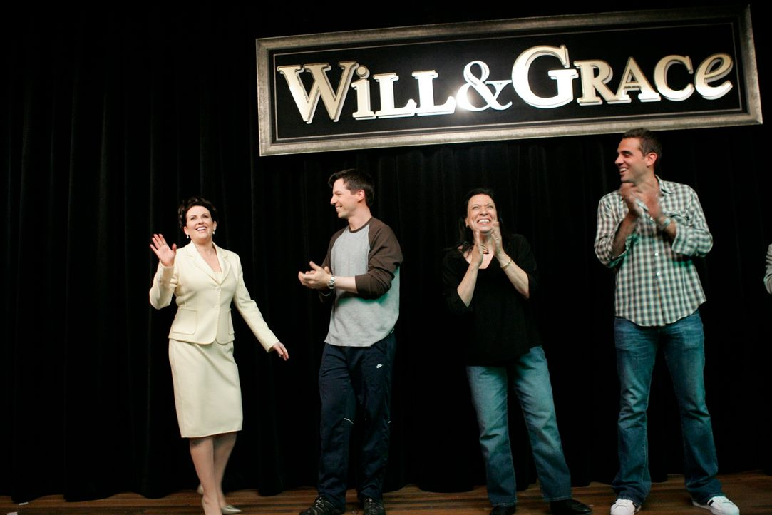 Nach 8 Staffeln Will & Grace heißt es jetzt Abschied nehmen: (v.l.n.r.) Megan Mullally, Sean Hayes, Shelley Morrison und Bobby Cannavale ... - Bildquelle: NBC Productions