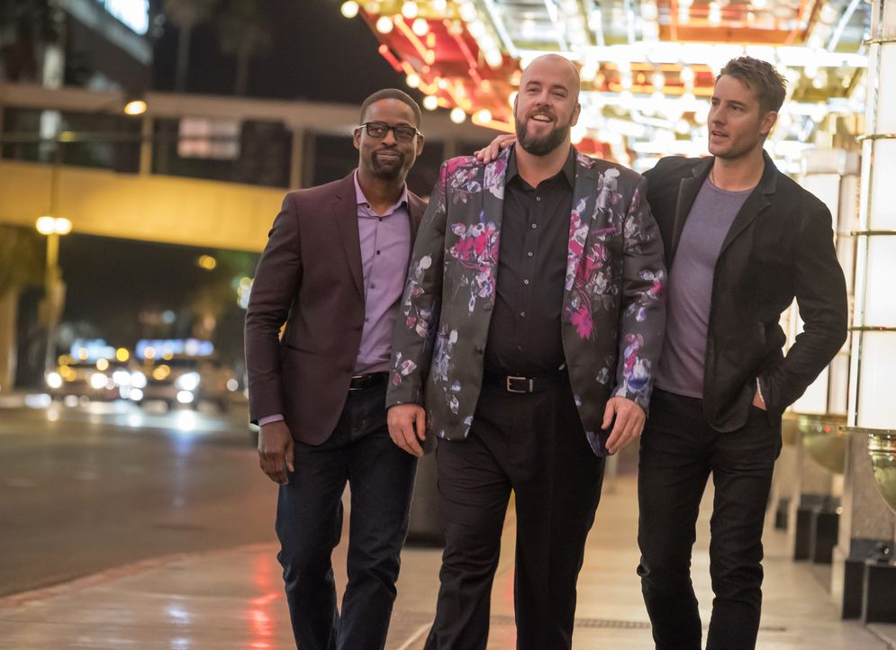 (v.l.n.r.) Randall Pearson (Sterling K. Brown); Toby Damon (Chris Sullivan); Kevin Pearson (Justin Hartley) - Bildquelle: Ron Batzdorff 2017-2018 NBCUniversal Media, LLC.  All rights reserved.
