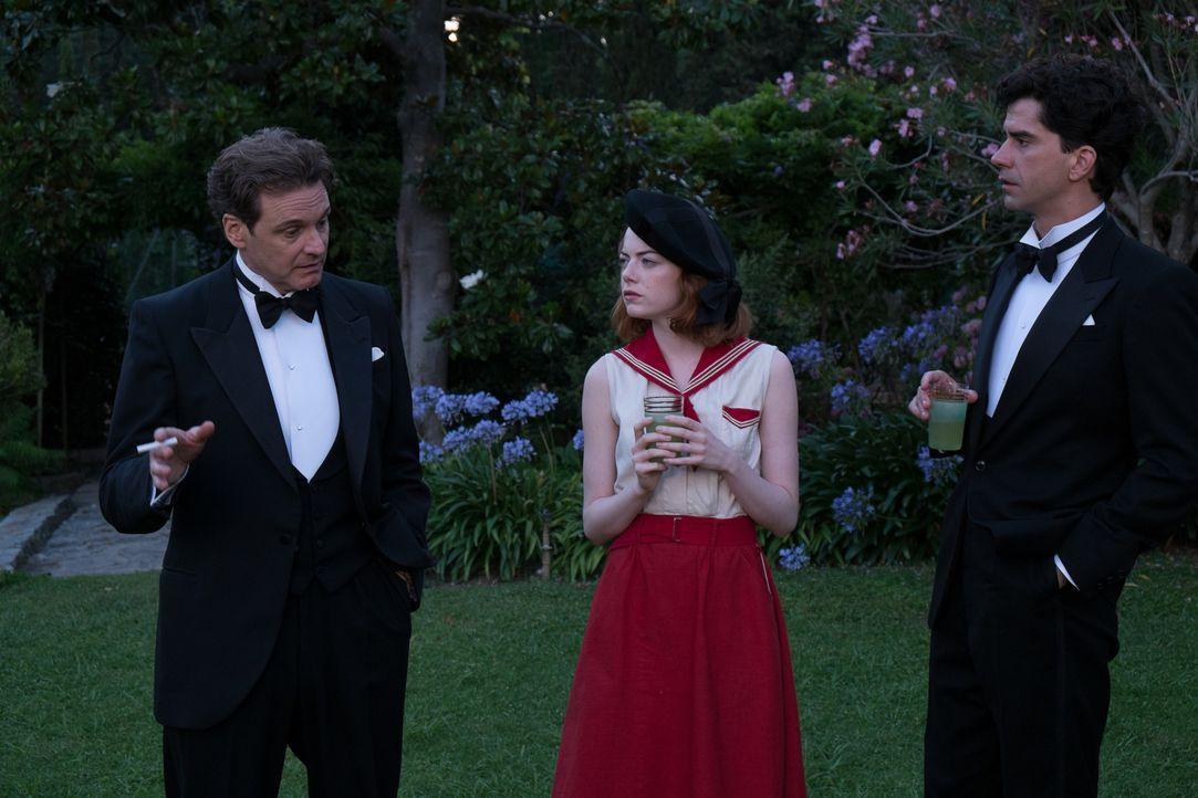 Während der wohlhabende und angesehene Brice Catledge (Hamish Linklater, r.) und seine Familie in Sophie (Emma Stone, M.) und ihre Fähigkeiten als M... - Bildquelle: Warner Bros.