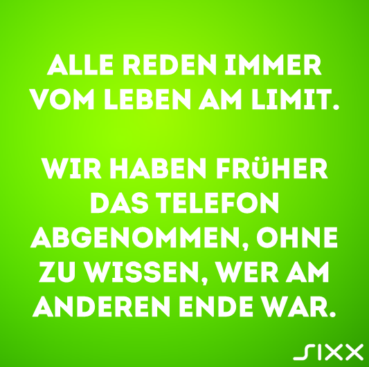 Visual Statements: Leben am Limit - Bildquelle: sixx