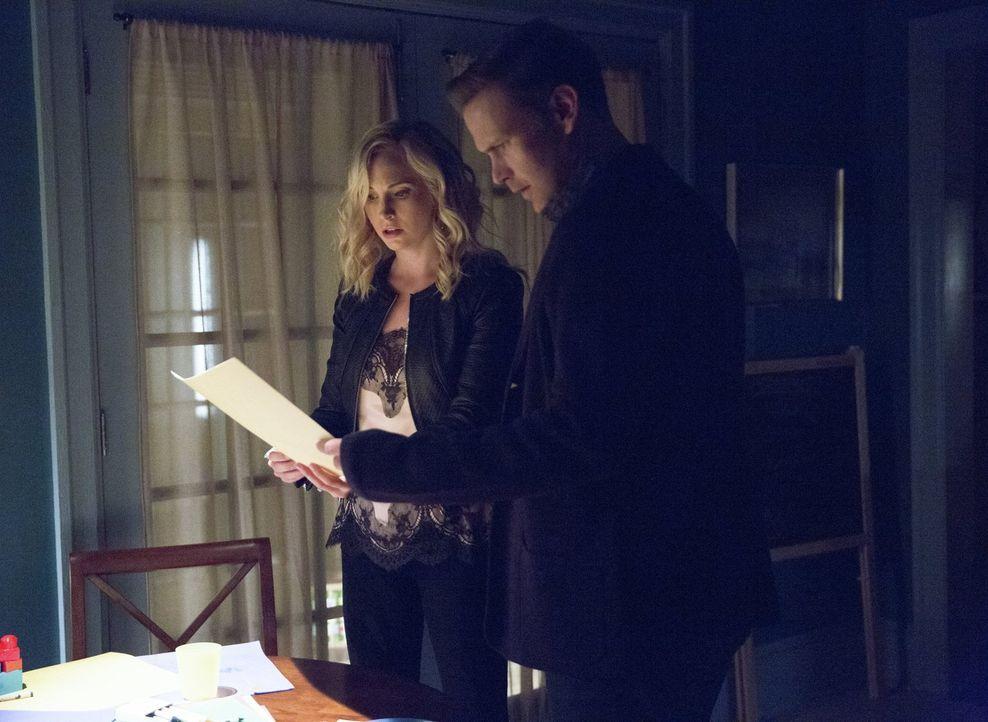 Erkennen Caroline (Candice King, l.) und Alaric (Matthew Davis, r.) zu spät, wer die zweite Sirene ist? - Bildquelle: Warner Bros. Entertainment, Inc.