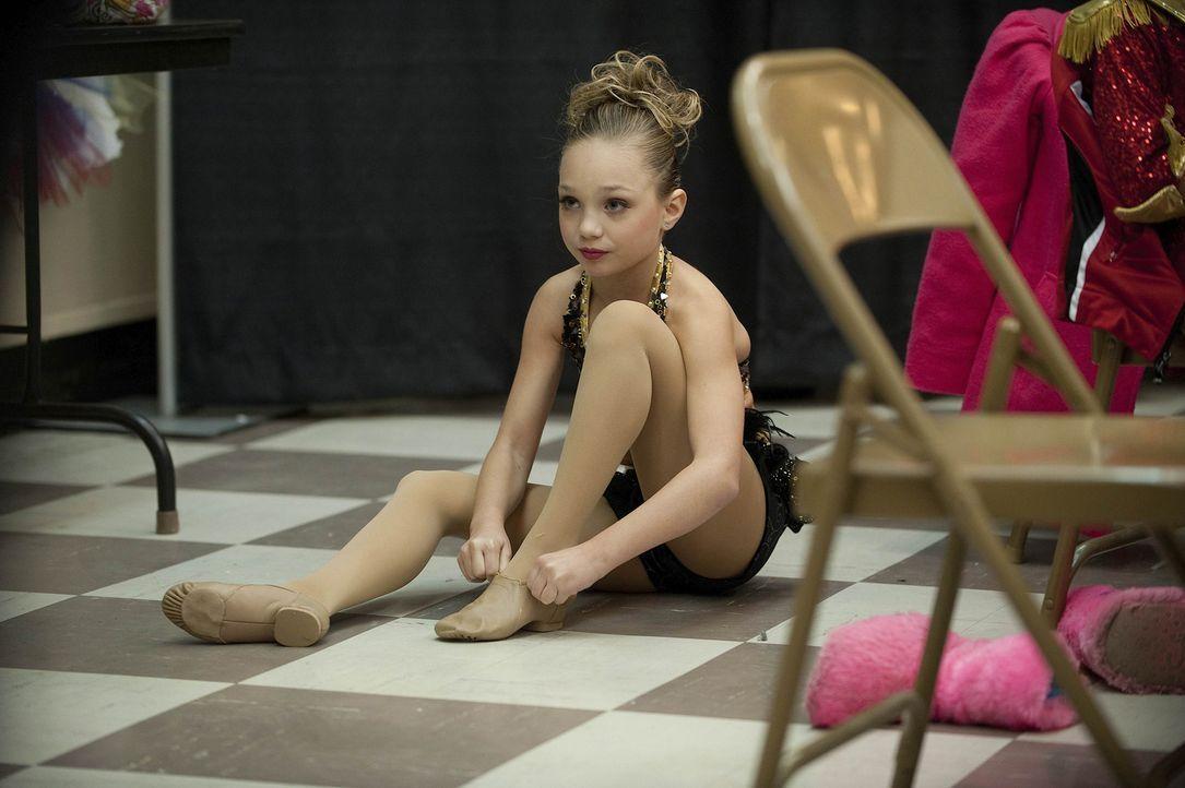 Auch Maddie weiß, dass der Kampf um jeden besseren Platz nie abreißen wird ... - Bildquelle: Scott Gries 2011 A+E Networks