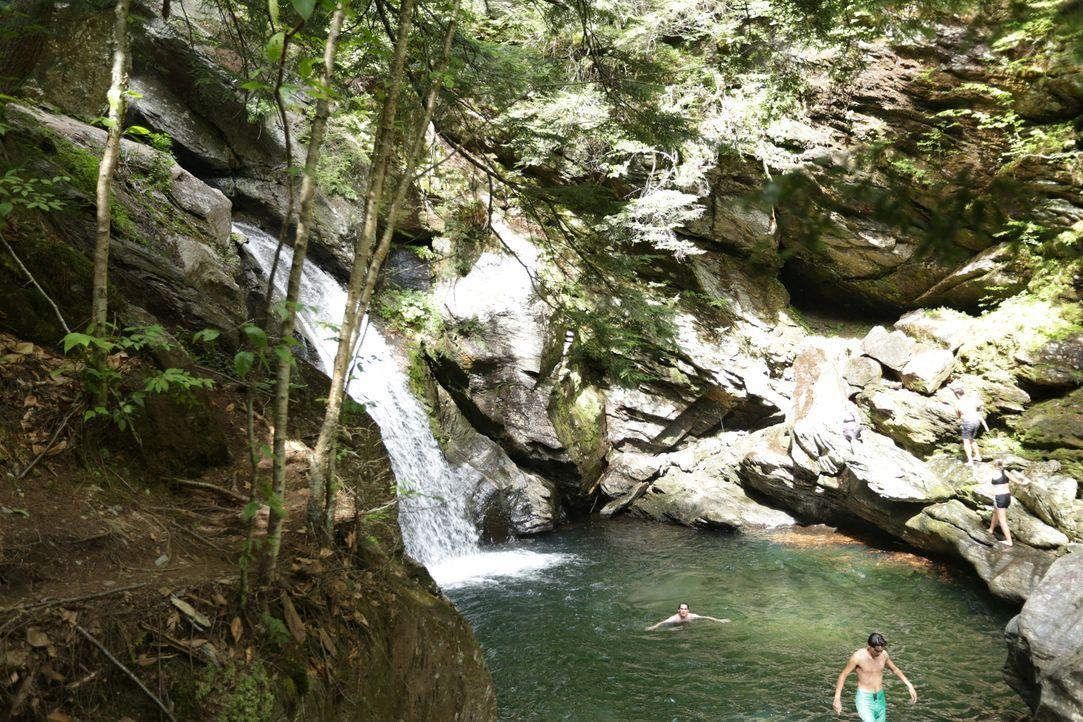 Die Bingham Falls in Vermont sind ein wahres Paradies für Klippenspringer ... - Bildquelle: 2016, The Travel Channel, L.L.C. All Rights Reserved.