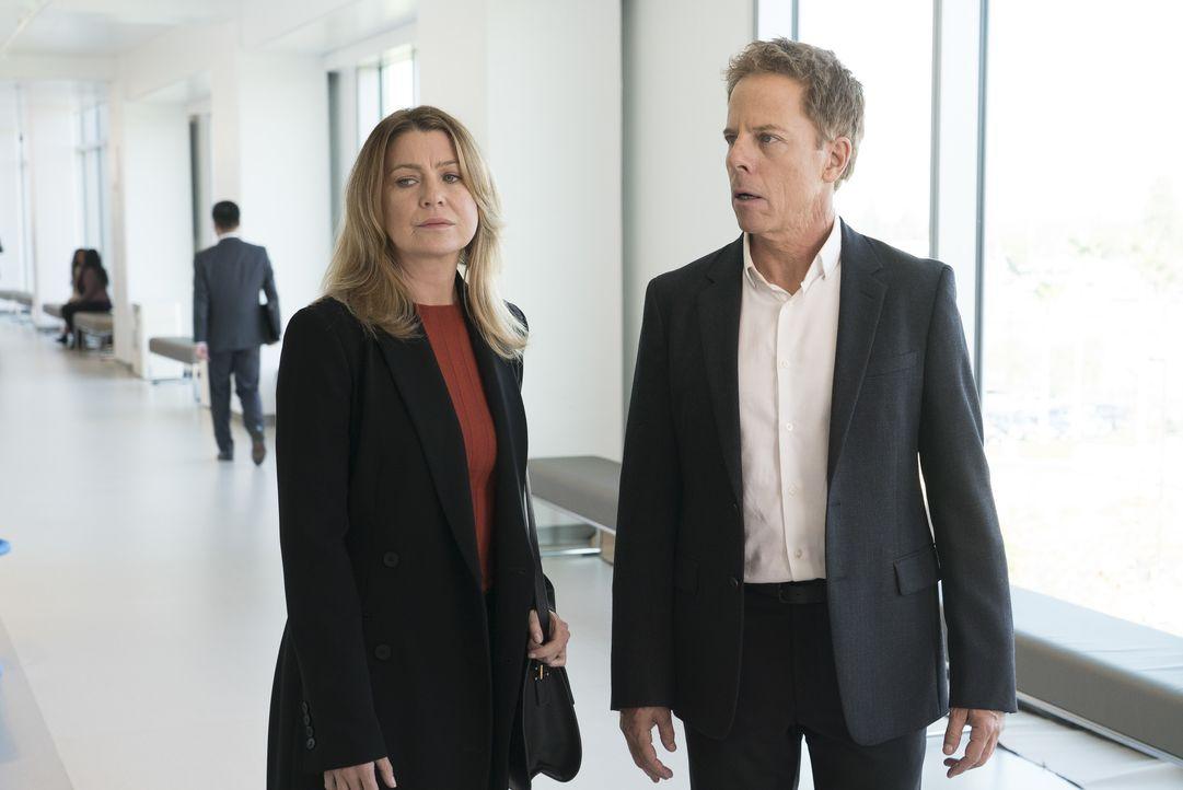 Dr. Meredith Grey (Ellen Pompeo, l.); Dr. Thomas Koracick (Greg Germann, r.) - Bildquelle: Eric McCandless ABC Studios / Eric McCandless