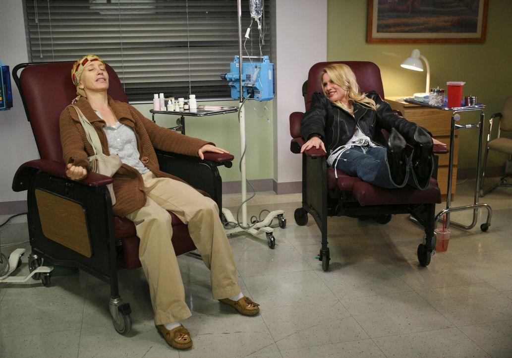 Während der Autofahrt zu Traver, erinnern sich Lynette (Felicity Huffman, l.) und die anderen an die schönsten Momente mit Edie (Nicolette Sheridan,... - Bildquelle: ABC Studios