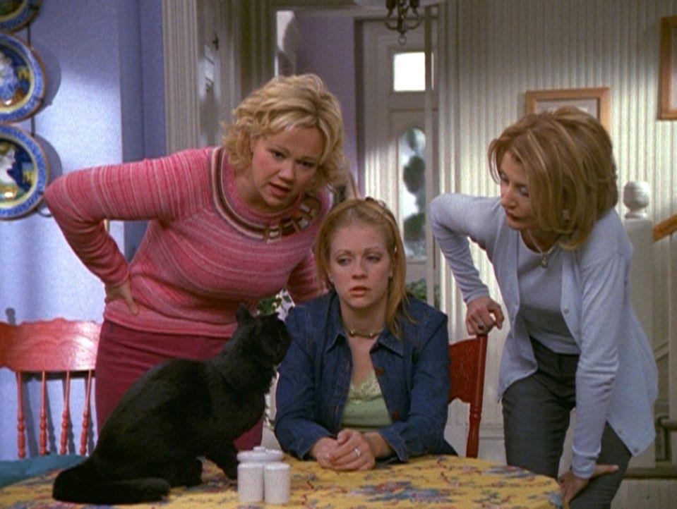 Hilda (Caroline Rhea, l.) und Zelda (Beth Broderick, r.) wollen herausfinden, ob sie es mit Sabrina (Melissa Joan Hart, M.) oder deren Zwillingsschw... - Bildquelle: Paramount Pictures