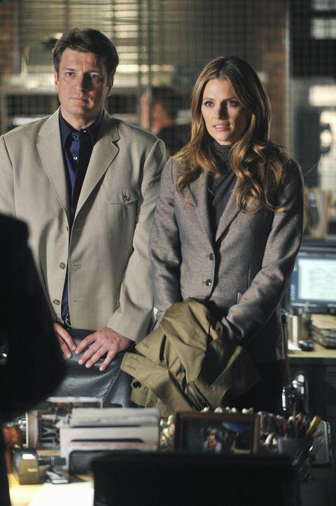Nach dem Mord an einem Regierungskritiker versiegelt Homeland Security den Tatort und übernimmt die Ermittlungen. Klar, dass sich Castle (Nathan Fil... - Bildquelle: ABC Studios