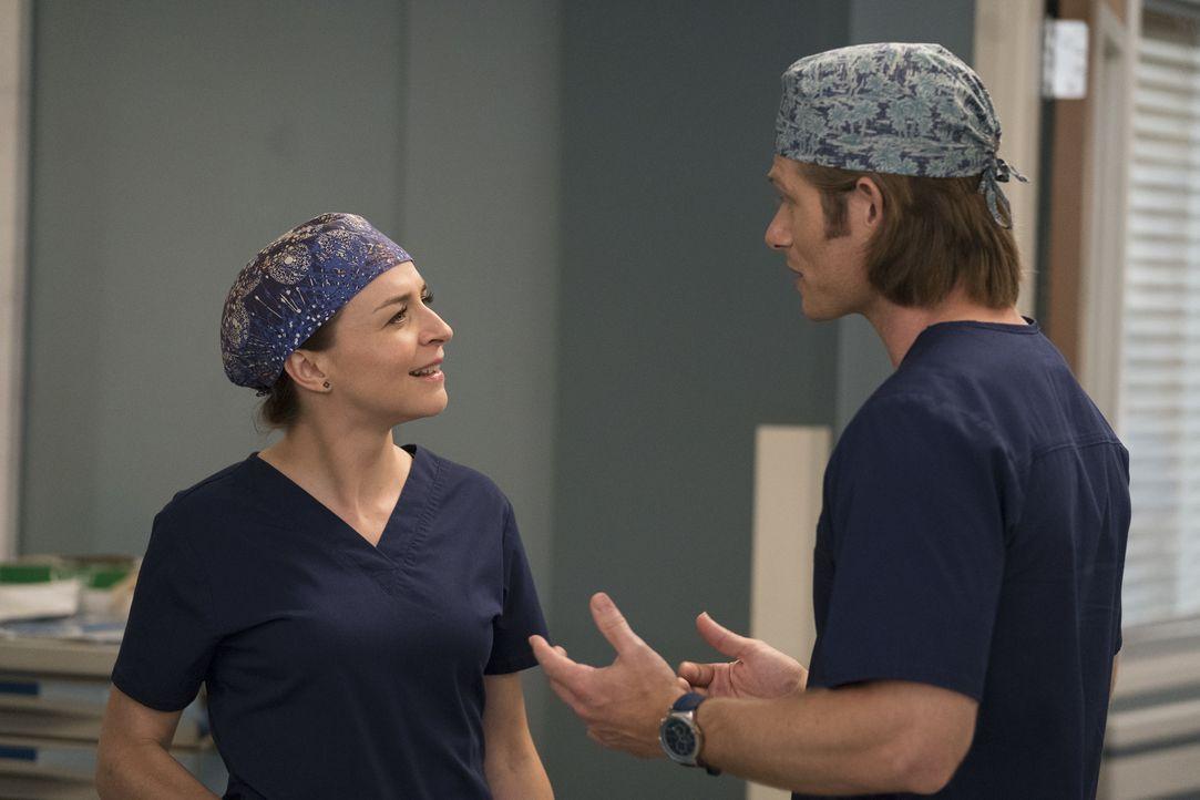 Dr. Amelia Shepherd (Caterina Scorsone, l.); Dr. Atticus Lincoln (Chris Carmack, r.) - Bildquelle: Mitch Haaseth ABC Studios / Mitch Haaseth