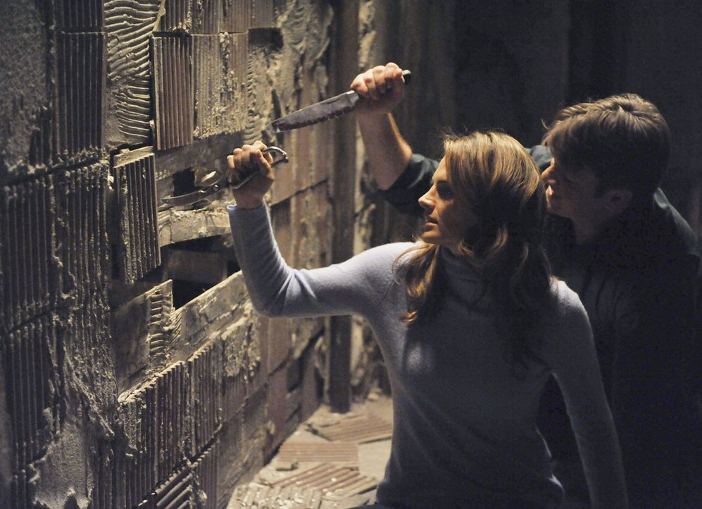 Glauben einen Ausweg gefunden zu haben: Richard Castle (Nathan Fillion, r.) und Kate Beckett (Stana Katic, l.) - Bildquelle: 2011 American Broadcasting Companies, Inc. All rights reserved.