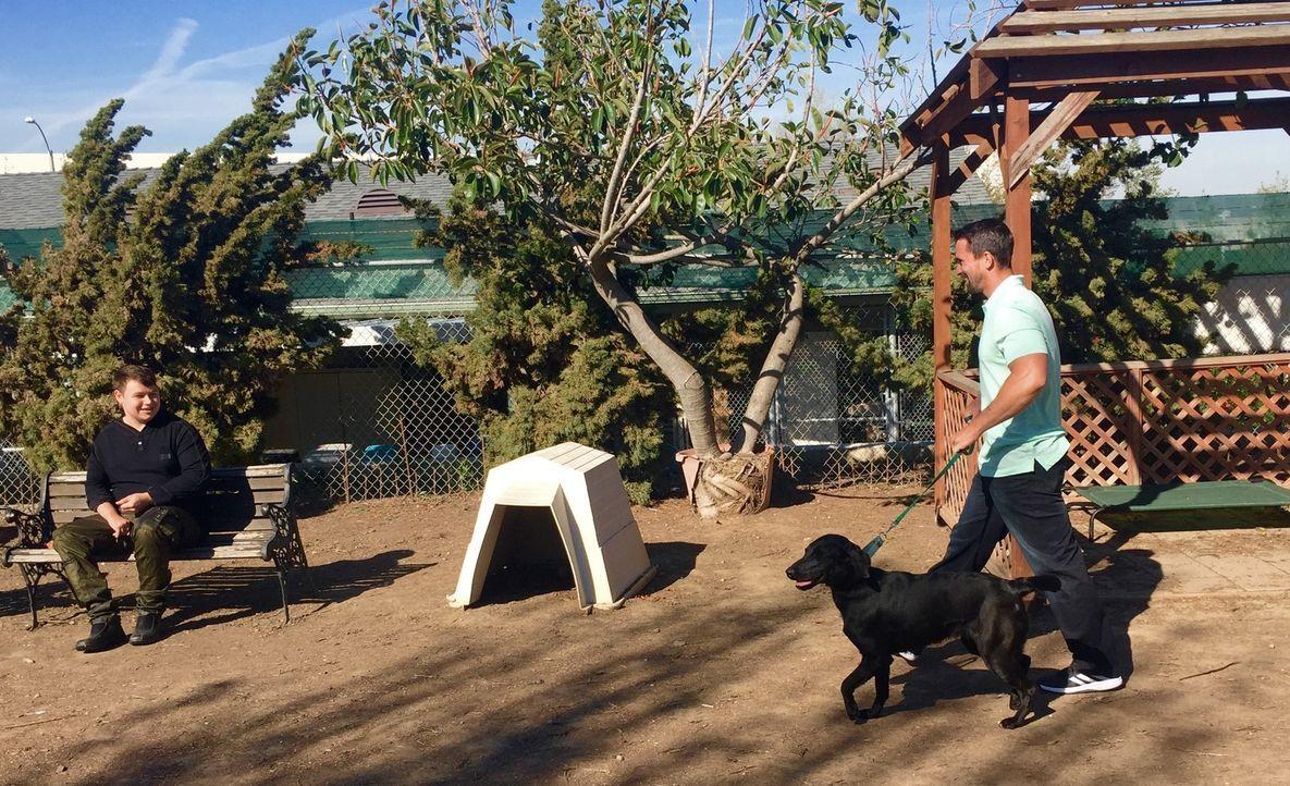 Für Immanuel (l.) sucht Nate (r.) einen Hund, der dem Jugendlichen bei seinen häufigen Krampfanfällen helfen kann ... - Bildquelle: Licensed by Magnify Content Media Ltd.