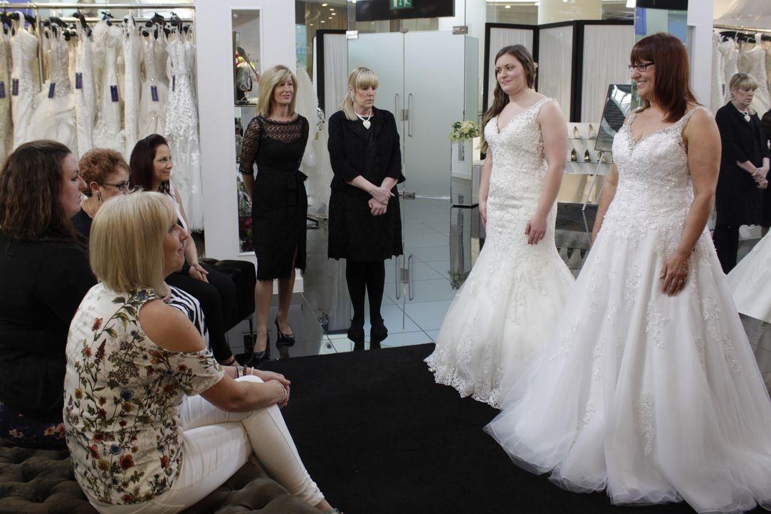 Braut Laura will ein Kleid finden, das sich komplett von dem voluminösen Hoc... - Bildquelle: TLC & Discovery Communications