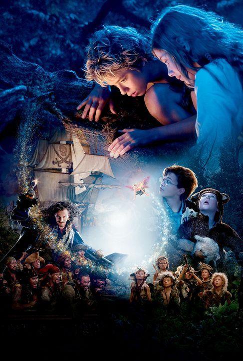 Erleben aufregende Abenteuer: Peter Pan (Jeremy Sumpter, oben) und seine Freunde ... - Bildquelle: 2004 Sony Pictures Television International. All Rights Reserved.