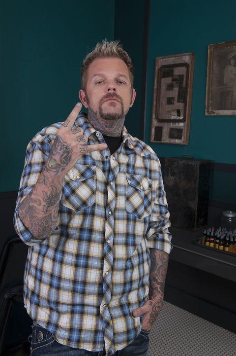"""(3. Staffel) - Der selbstbewusste Tray """"Big Daddy"""" Benham hat mit seiner neuen Tattoo-Art eine ganze Generation von Künstlern geprägt ... - Bildquelle: Fernando Leon Spike TV"""