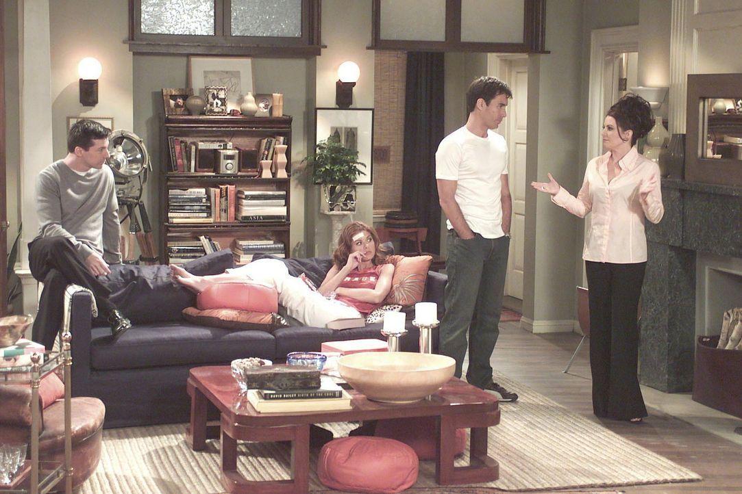 Trotz ihres Traumprinzen hält Grace (Debra Messing, 2.v.l.) an dem Plan fest, mit Will (Eric McCormack, 2.v.r.) ein Kind zu haben - doch wird es so... - Bildquelle: NBC Productions