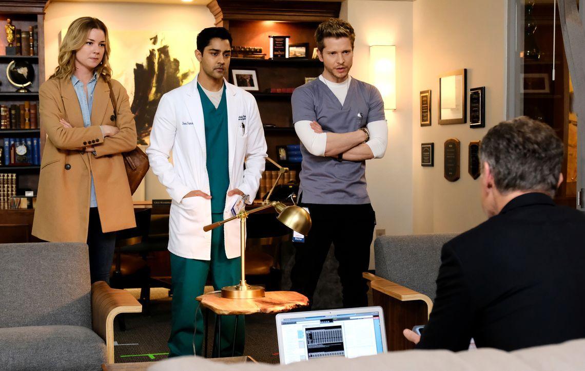 Können (v.l.n.r.) Nic (Emily VanCamp), Devon (Manish Dayal) und Conrad (Matt Czuchry) erfolgreich gegen Dr. Lane Hunter vorgehen? - Bildquelle: 2018 Fox and its related entities. All rights reserved.