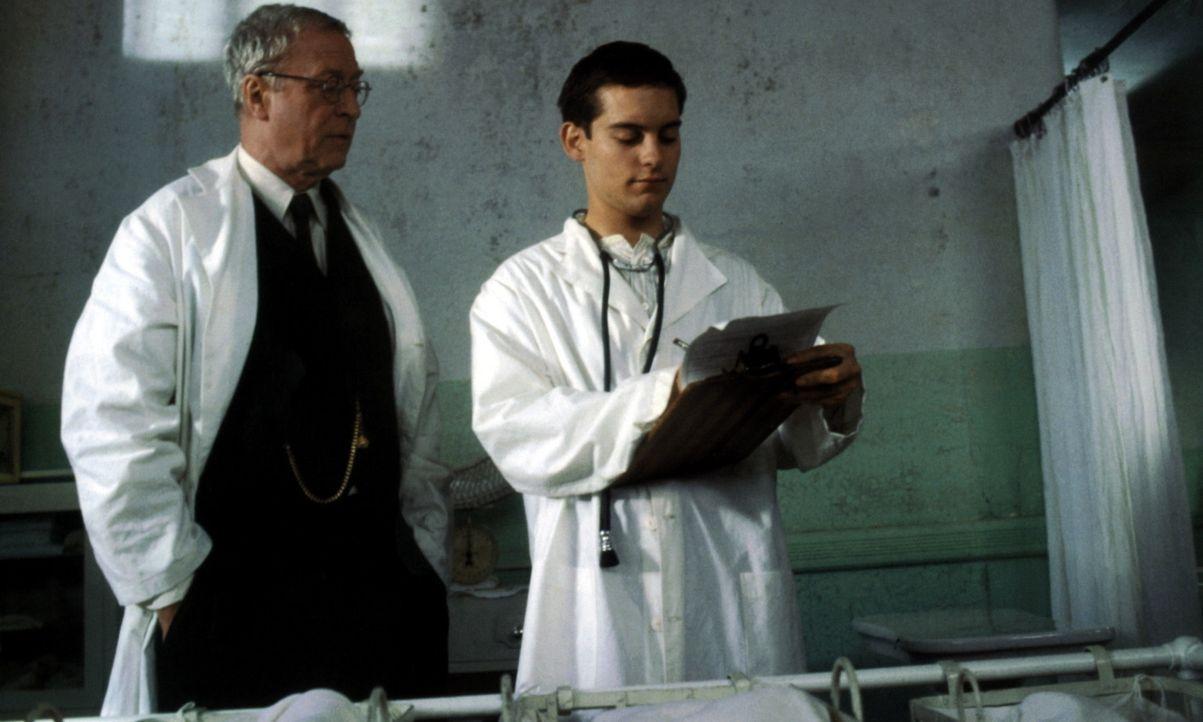 In einem Waisenhaus in den USA hat der junge Homer Wells (Tobey Maguire, r.) das Glück, vom medizinischen Wissen des dortigen Arztes Dr. Wilbur Lar... - Bildquelle: Kinowelt Filmverleih
